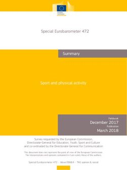 Special Eurobarometer 472 Summary Sport and physical activity December 2017 March 2018