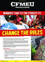 Change the rules - CFMEU Manufacturing Division