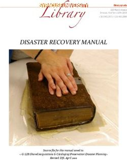 DISASTER RECOVERY MANUAL Source file for this manual saved to