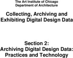 Collecting, Archiving and Exhibiting Digital Design Data Section 2: Archiving Digital Design Data: Practices and Technology