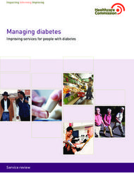 Managing diabetes - Improving services for people with diabetes