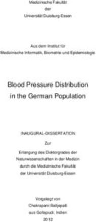Blood Pressure Distribution in the German Population