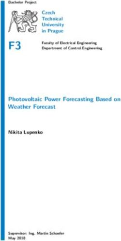 Photovoltaic Power Forecasting Based on Weather - ČVUT DSpace