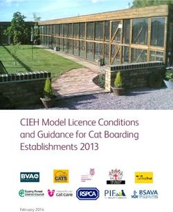 CIEH Model Licence Conditions and Guidance for Cat Boarding Establishments 2013
