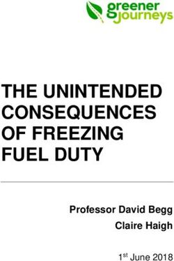 THE UNINTENDED CONSEQUENCES OF FREEZING FUEL DUTY