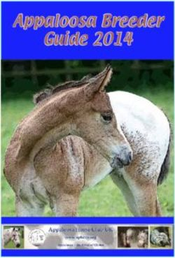 Appaloosa Breeder Guide 2014