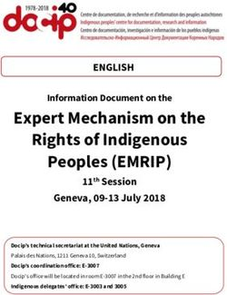 Expert Mechanism on the Rights of Indigenous Peoples (EMRIP)