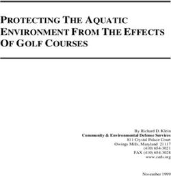 OF GOLF COURSES - PROTECTING THE AQUATIC ENVIRONMENT FROM THE EFFECTS