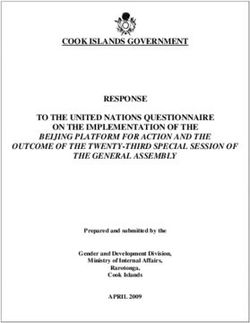 Cook islands government response to the united nations questionnaire
