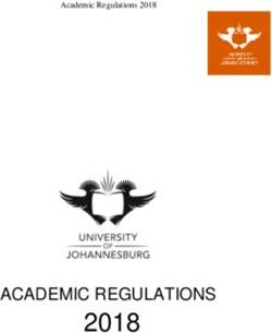 2018 ACADEMIC REGULATIONS