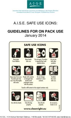 Guidelines for on pack use a.i.s.e. safe use icons: january 2014