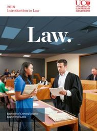 2018 Introduction to Law - Bachelor of Criminal Justice / Bachelor of Laws - UNIVERSITY OF CANTERBURY