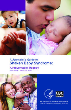 Shaken Baby Syndrome: A Journalist's Guide to A Preventable Tragedy