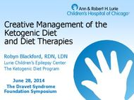 Creative Management of the Ketogenic Diet and Diet Therapies