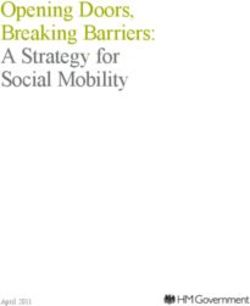 Opening Doors, Breaking Barriers: A Strategy for Social Mobility