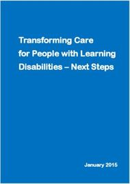 Transforming Care for People with Learning Disabilities - Next Steps