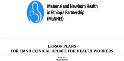 LESSON PLANS FOR CMNH CLINICAL UPDATE FOR HEALTH WORKERS