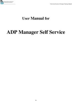 ADP Manager Self Service User Manual for