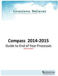 Compass 2014-2015 - Guide to End of Year Processes