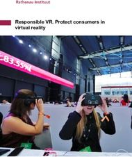 Responsible VR. Protect consumers in virtual reality