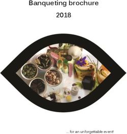 Banqueting brochure 2018 for an unforgettable event!