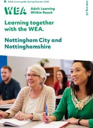 Learning together with the WEA. Nottingham City and Nottinghamshire