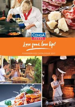 Conga Foods - Foodservice Catalogue 2017