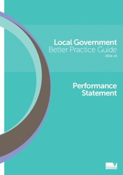 Local Government Better Practice Guide Performance Statement