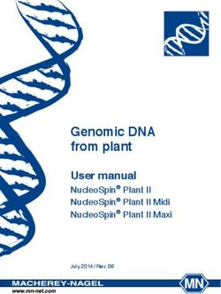 GENOMIC DNA FROM PLANT - USER MANUAL NUCLEOSPIN PLANT II NUCLEOSPIN PLANT II MIDI NUCLEOSPIN PLANT II MAXI