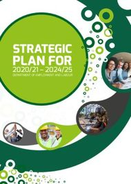 PLAN FOR STRATEGIC DEPARTMENT OF EMPLOYMENT AND LABOUR - Parliamentary ...