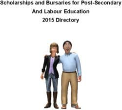 Scholarships and Bursaries for Post-Secondary And Labour Education 2015 Directory