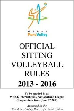 OFFICIAL SITTING VOLLEYBALL RULES 2013 2016