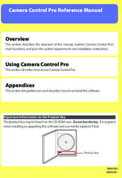 Camera Control Pro Reference Manual Overview