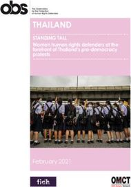 Thailand STandinG Tall Women human rights defenders at the forefront of ...