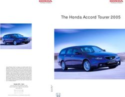 The Honda Accord Tourer 2005