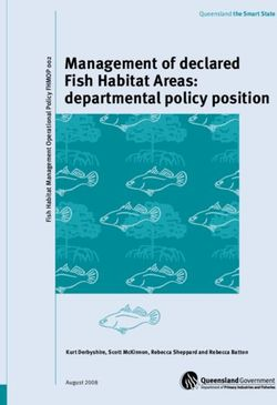Management of declared Fish Habitat Areas: departmental policy position