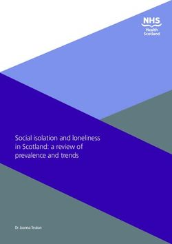 Social isolation and loneliness in Scotland: a review of prevalence and trends