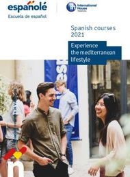 Spanish courses 2021 Experience the mediterranean lifestyle - Jazyky v ...