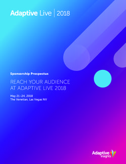 REACH YOUR AUDIENCE AT ADAPTIVE LIVE 2018