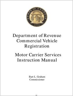 Department of Revenue Commercial Vehicle Registration Motor Carrier Services Instruction Manual