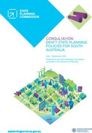 CONSULTATION: DRAFT STATE PLANNING POLICIES FOR SOUTH AUSTRALIA