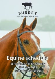 Equine schedule - Spring Bank Holiday Monday