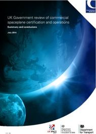 UK Government review of commercial spaceplane certification and operations
