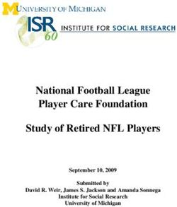 National Football League Player Care Foundation Study of Retired NFL Players