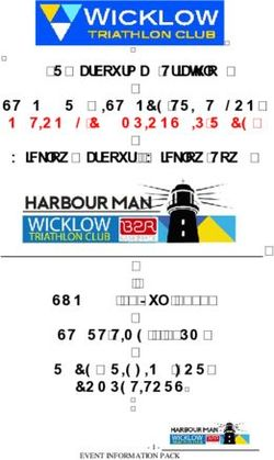 B2R Harbourman Triathlon STANDARD DISTANCE TRIATHLON NATIONAL CHAMPIONSHIP RACE Wicklow Harbour - Wicklow Town SUNDAY 08 July 2018 START TIME 1.00PM