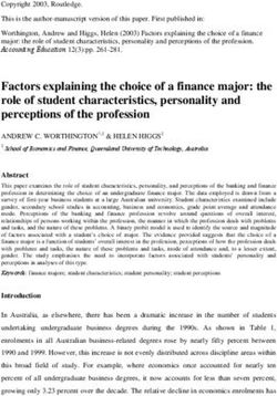 Factors explaining the choice of a finance major: the role of student characteristics, personality and perceptions of the profession