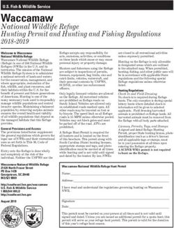 Waccamaw - 2018-2019 National Wildlife Refuge Hunting Permit and Hunting and Fishing Regulations