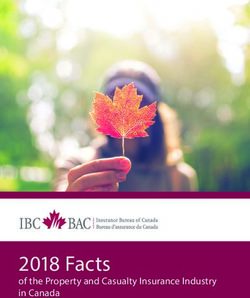 2018 Facts - of the Property and Casualty Insurance Industry in Canada