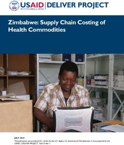 Zimbabwe: Supply Chain Costing of Health Commodities
