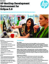 HP NonStop Development Environment for Eclipse 5.0
